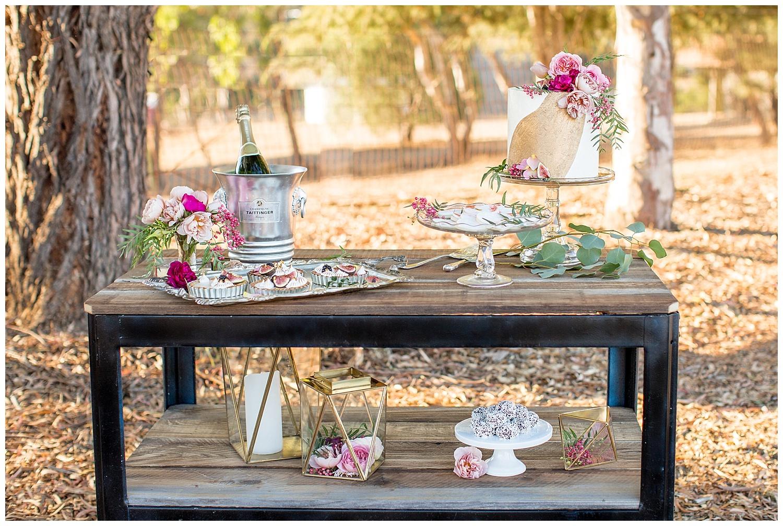de joy photography wedding dessert cart