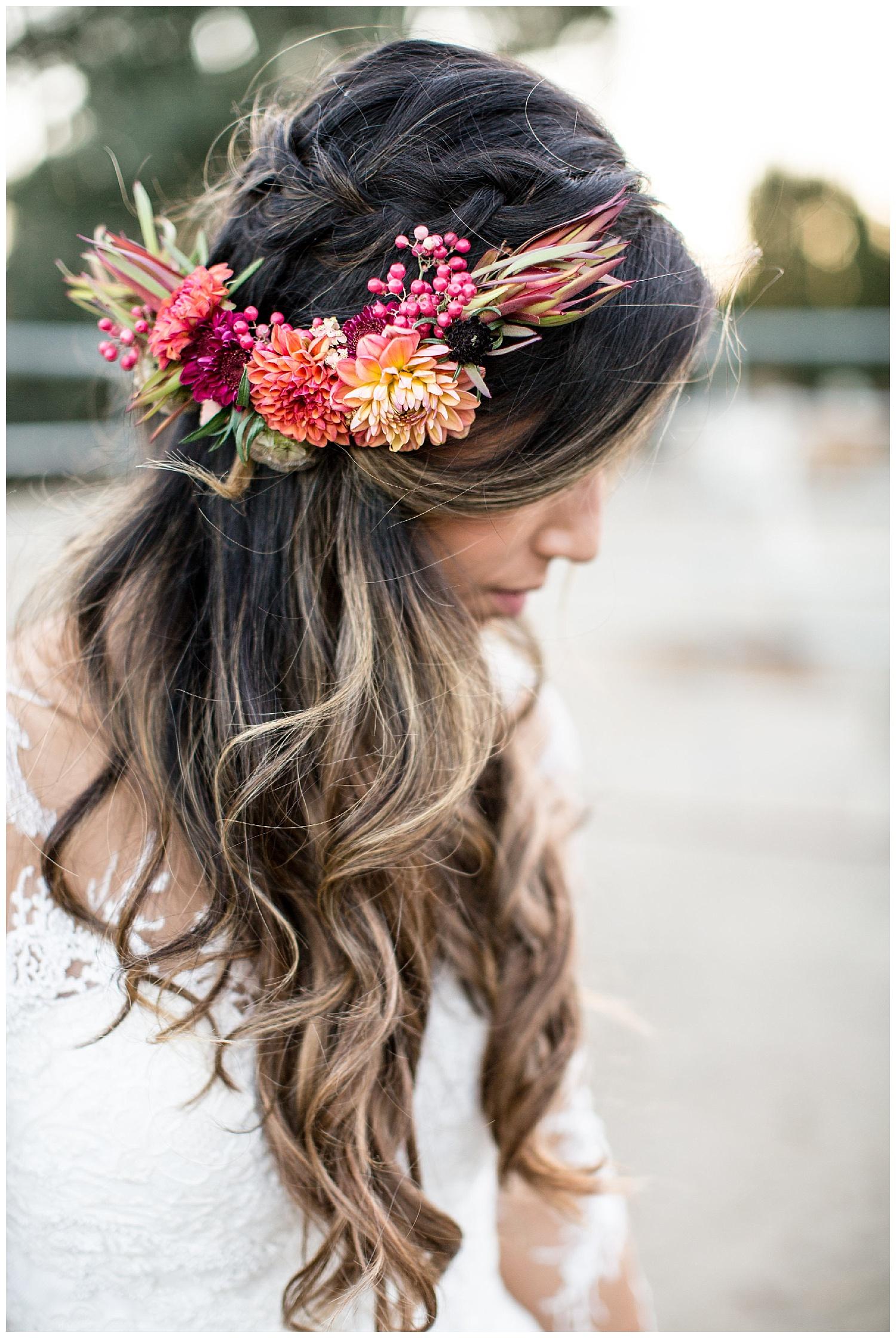 de joy photography floral crown bridal
