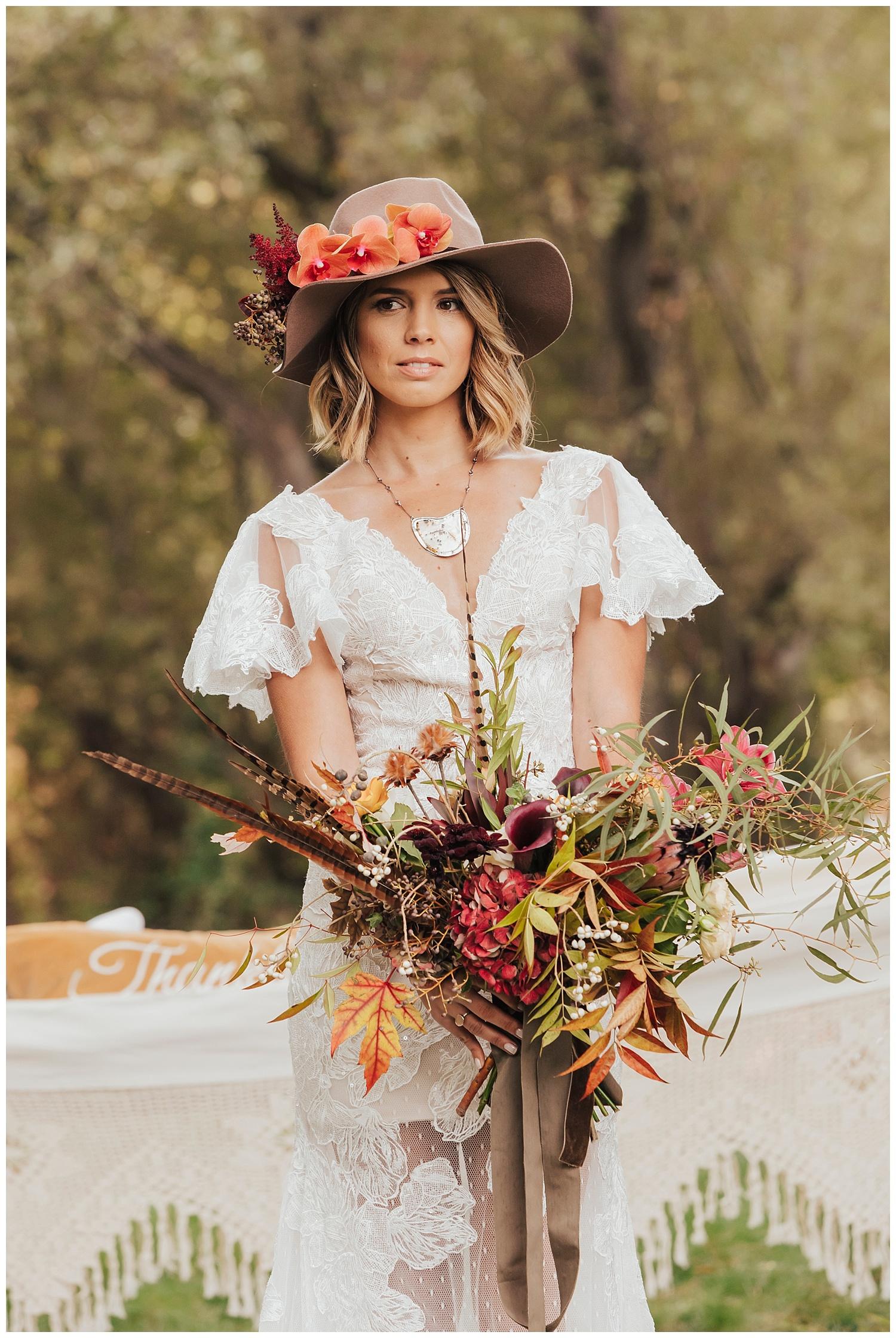 carol oliva photography boho bridal hat