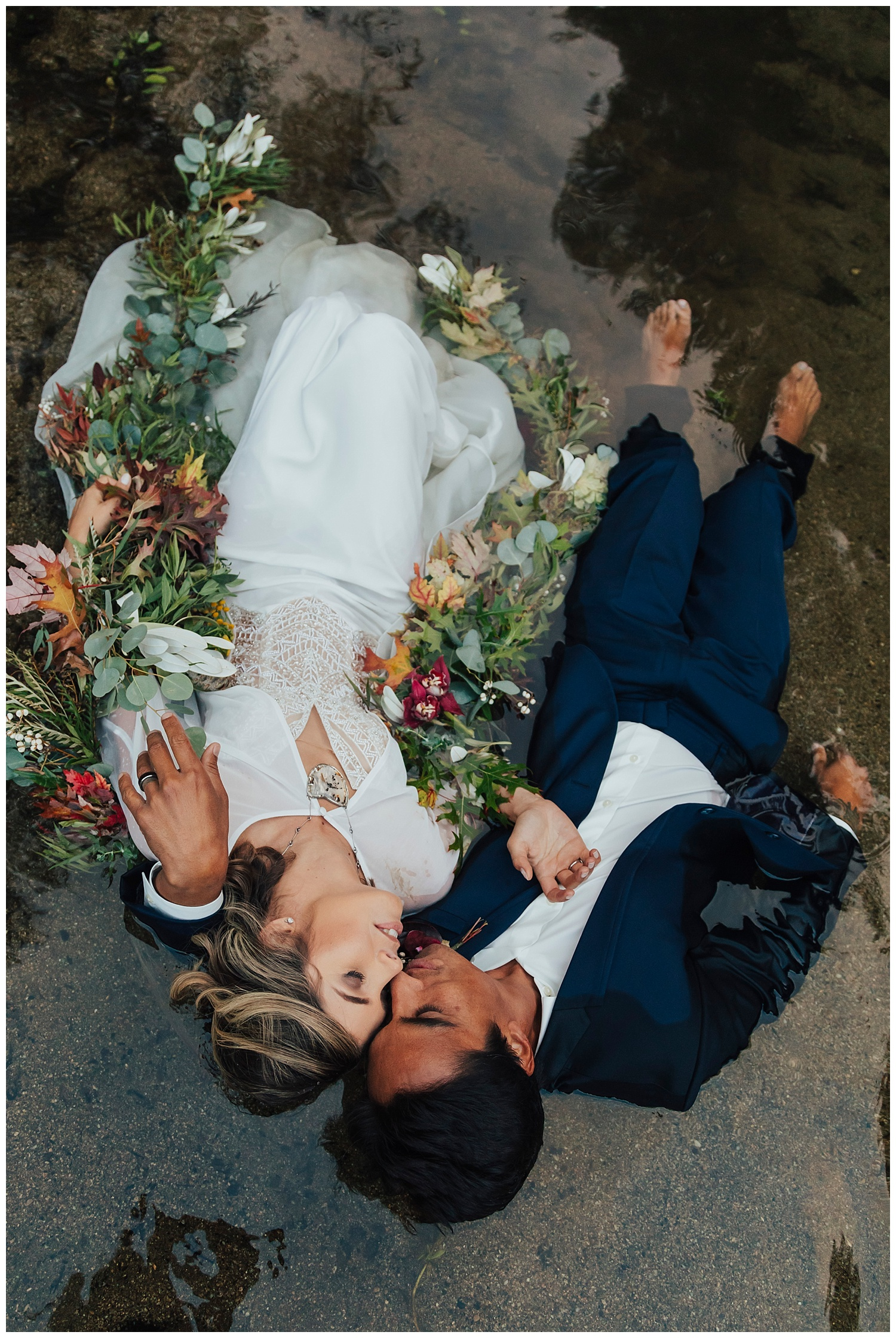 carol oliva photography water bridal photo