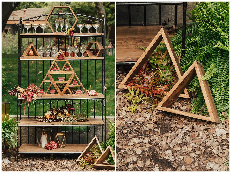 carol oliva photography geometric wedding accessories