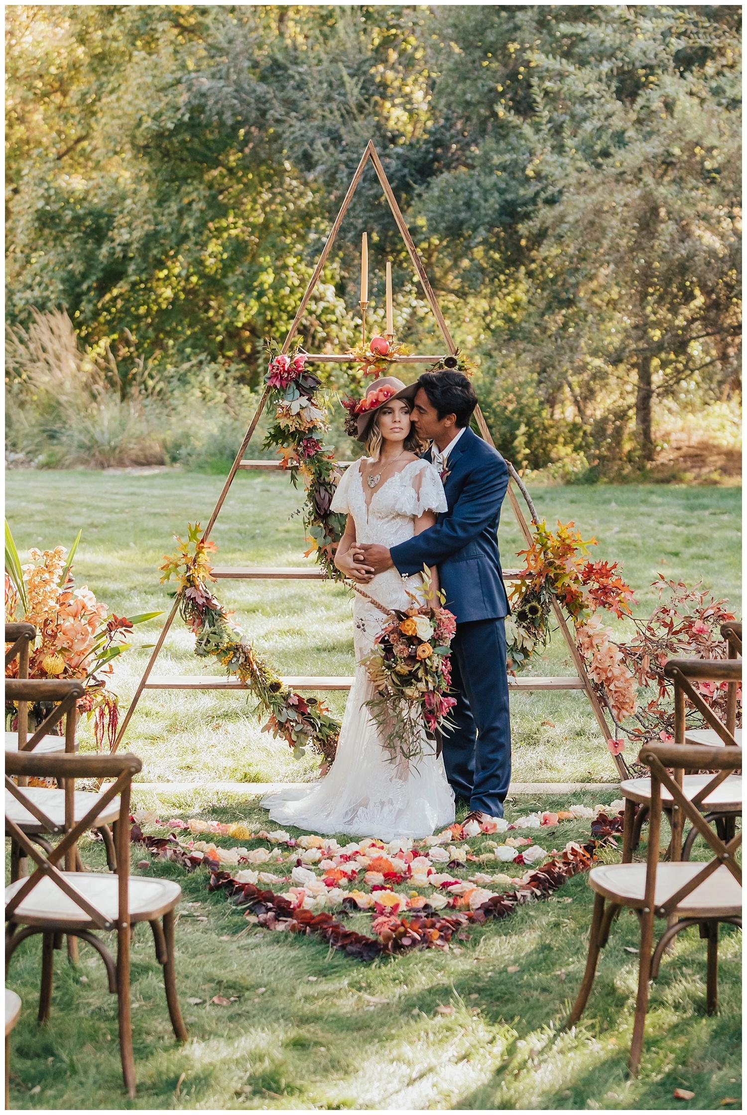 carol oliva photography boho bridal wedding