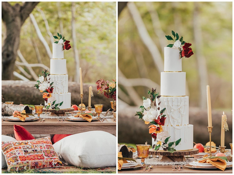 carol oliva photography boho wedding cake
