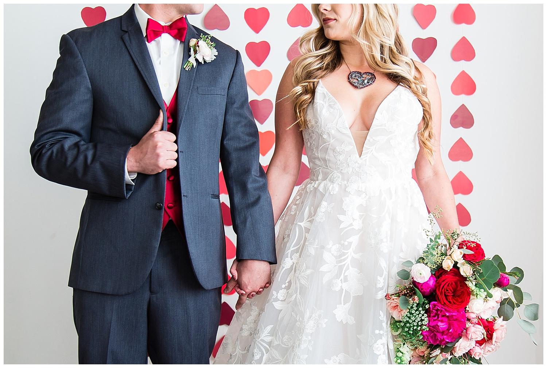 Kelley Williams photography valentines wedding couple