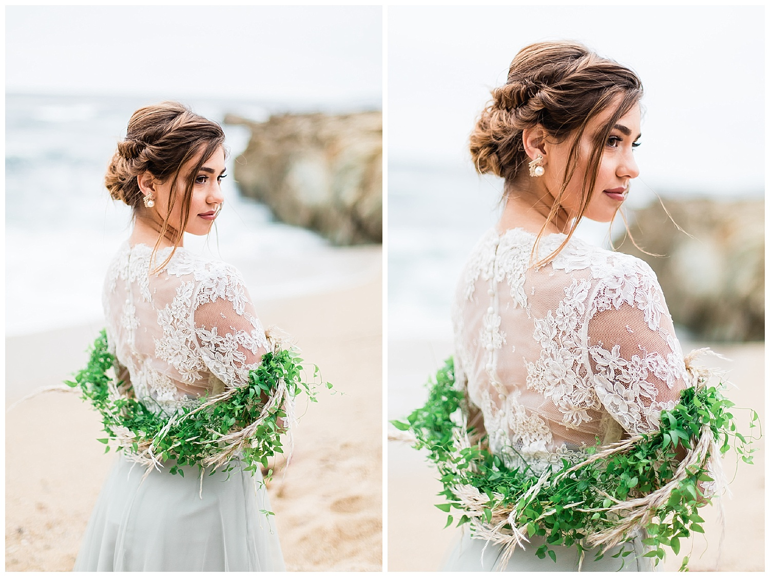 An loose updo is perfect for gowns with beautiful backs. You don't want to cover all that gorgeous lace!