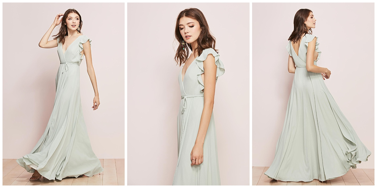 Everyone knows a wrap dress is the ultimate in flattery. Which is why our A-line Georgette wins in the wedding photos—and every other occasion, really.