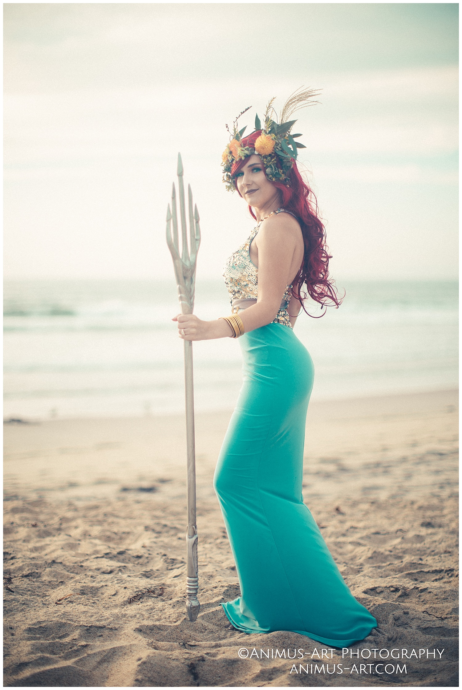 Mera with Trident and Floral Crown at the Beach.jpg