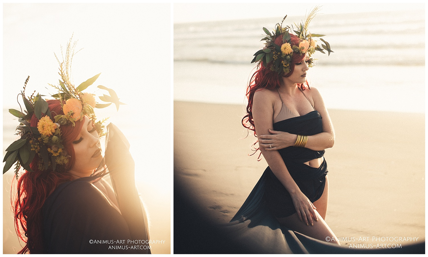 Wild Rose and Thyme Flower Crown at the beach.jpg