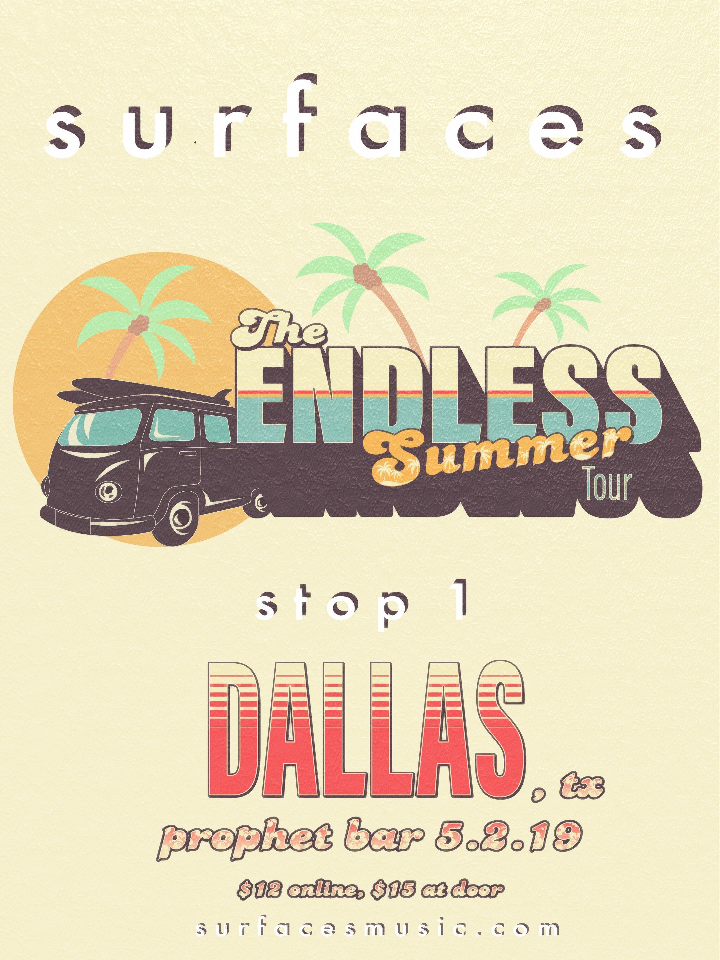 Surfaces: Endless Summer Tour Stop 1 — MV TOURING