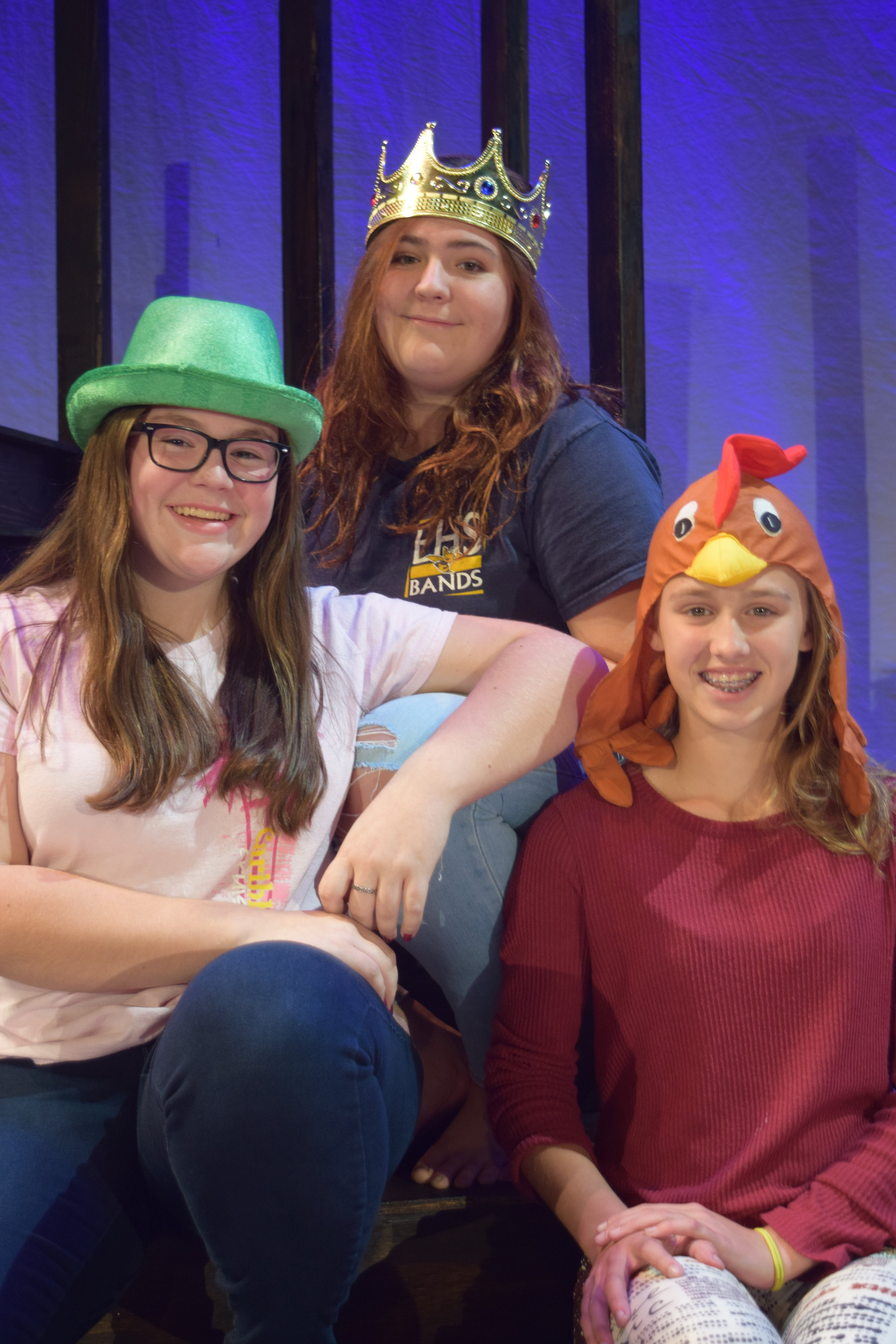 Lily Davis, Emily Gonyeau, Grace Arcovich, Costume Team