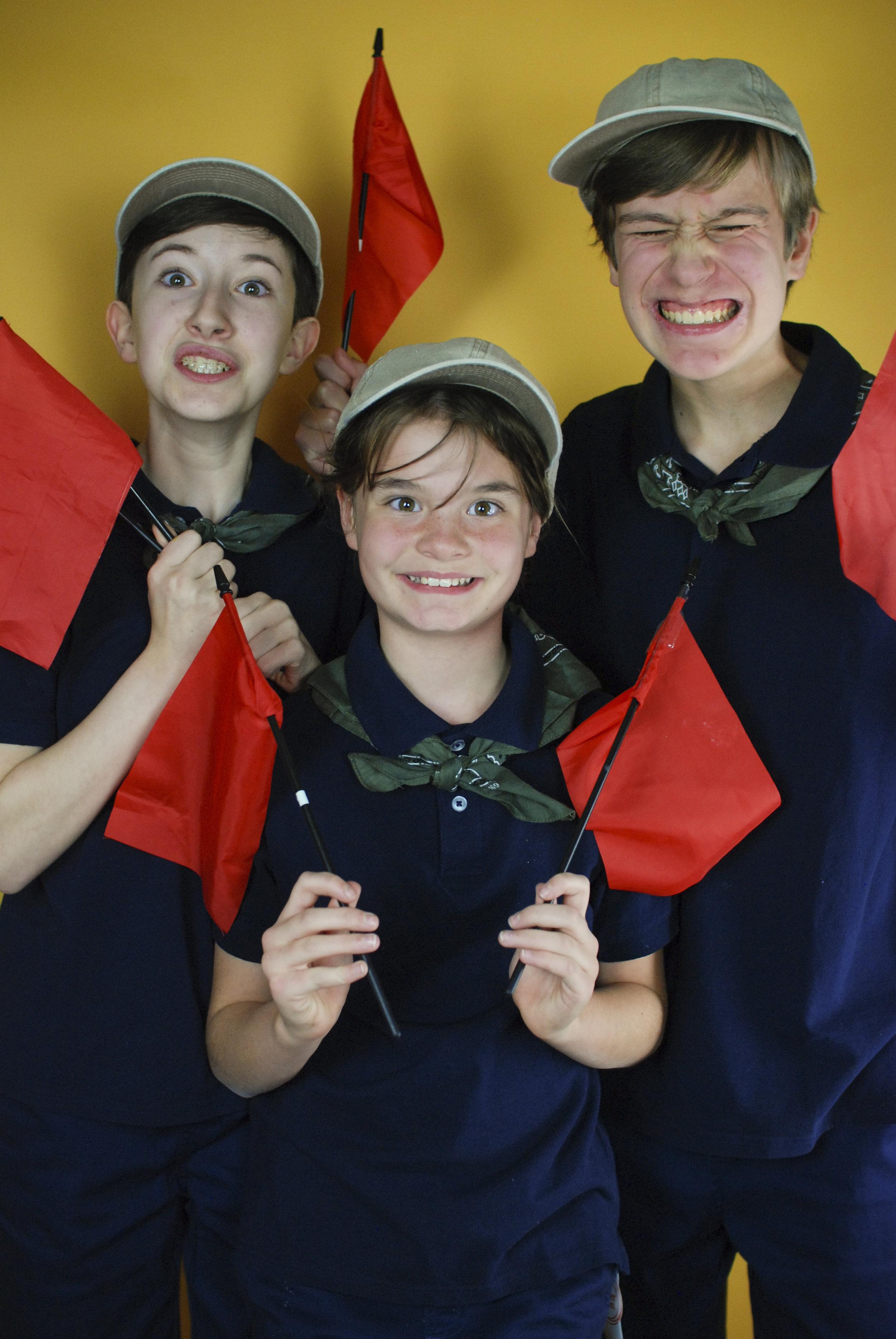 Mikaela Perrin, Owen Kupferer, Marin Walsh as Scouts