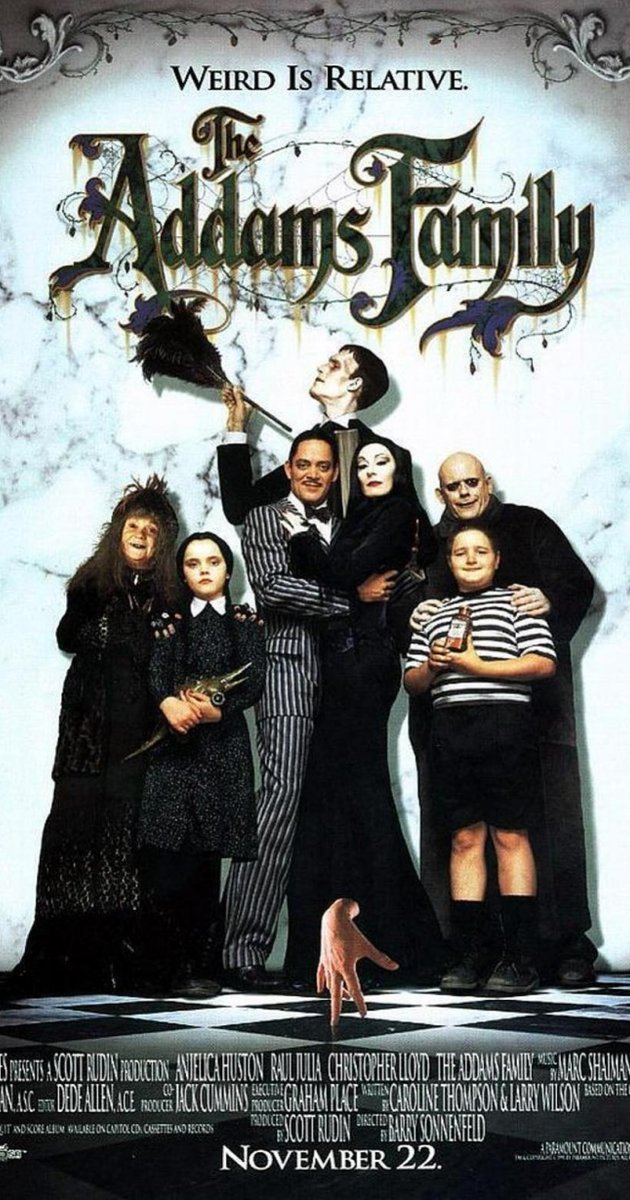 - The very first time I changed Jackson's diaper at home, I started singing the Addams Family theme song to distract him. I still sing it to him & he always smiles. These movies are necessary.WHERE TO WATCH: Hulu