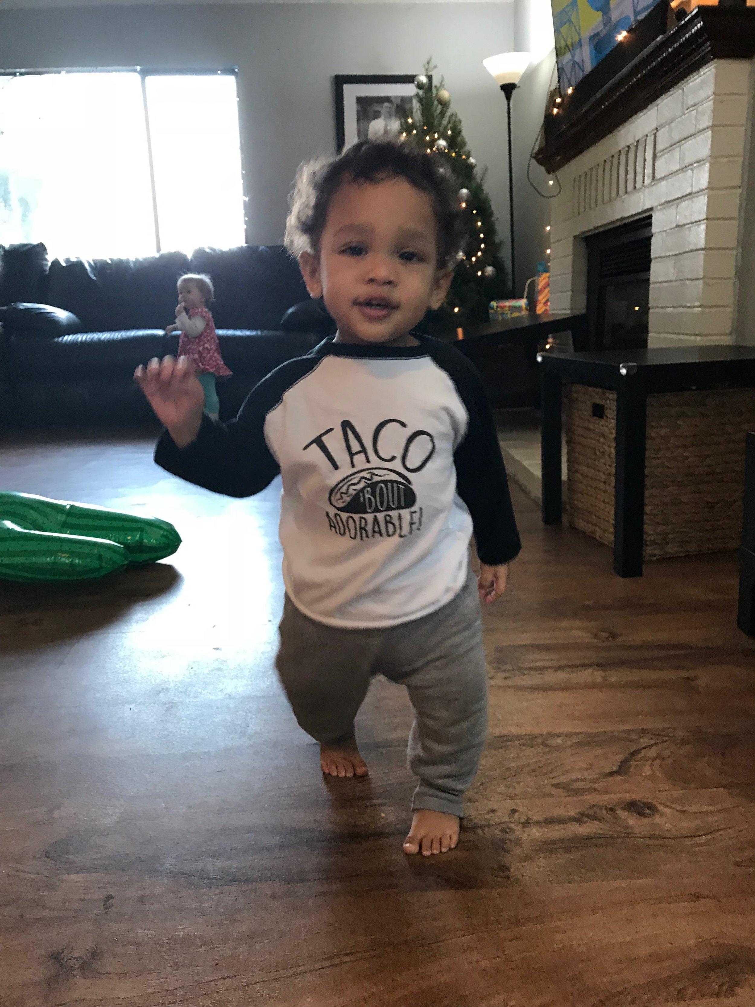 & Jackson wore a super cute Taco shirt :)