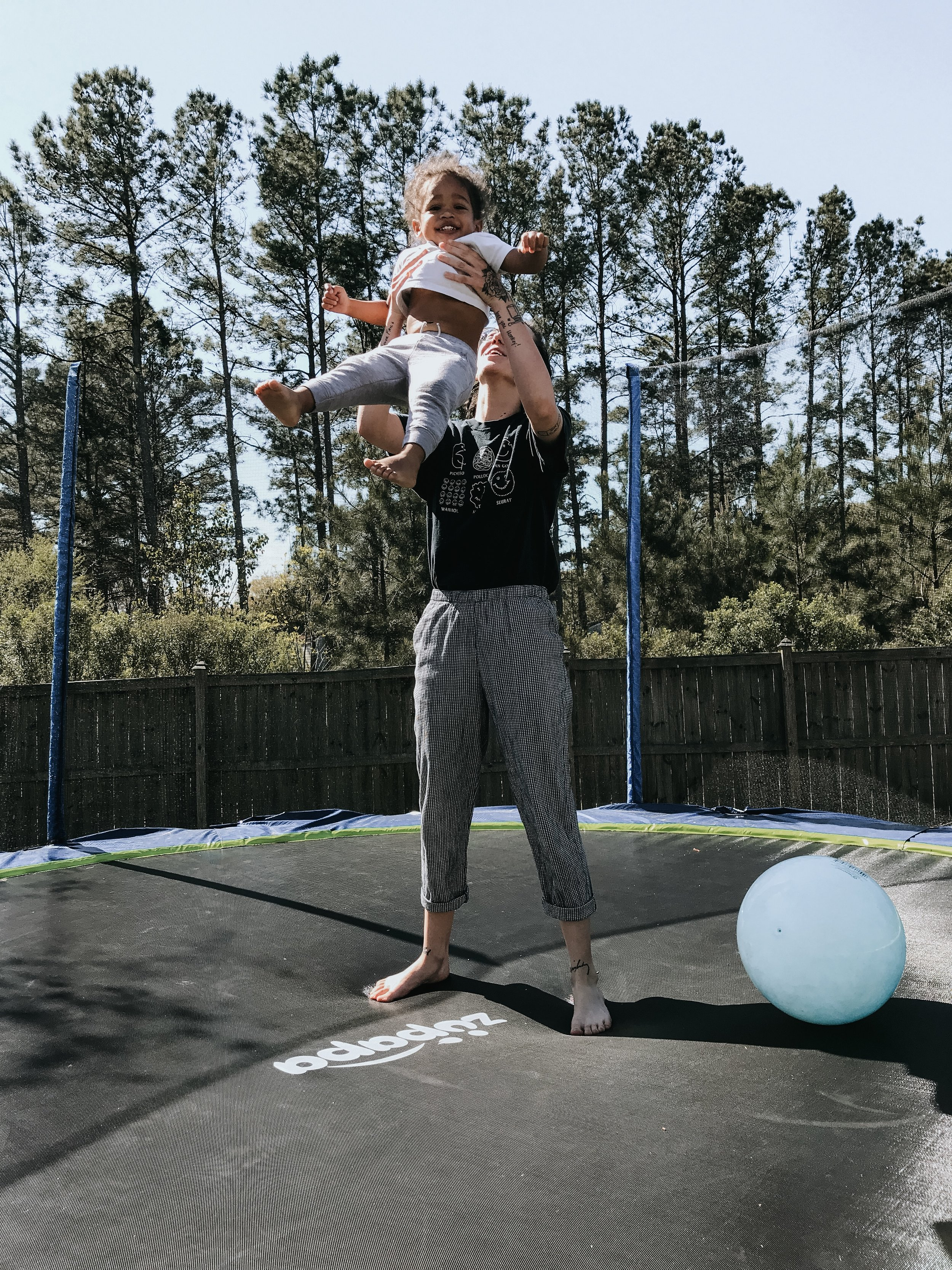 Not our OT but we wouldn't have realized a trampoline was needed if it wasn't for her!
