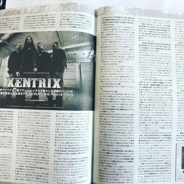 The latest issue of Burrn magazine in Japan! #xentrix #burythepain #burrnmagazine #ukthrashmetal