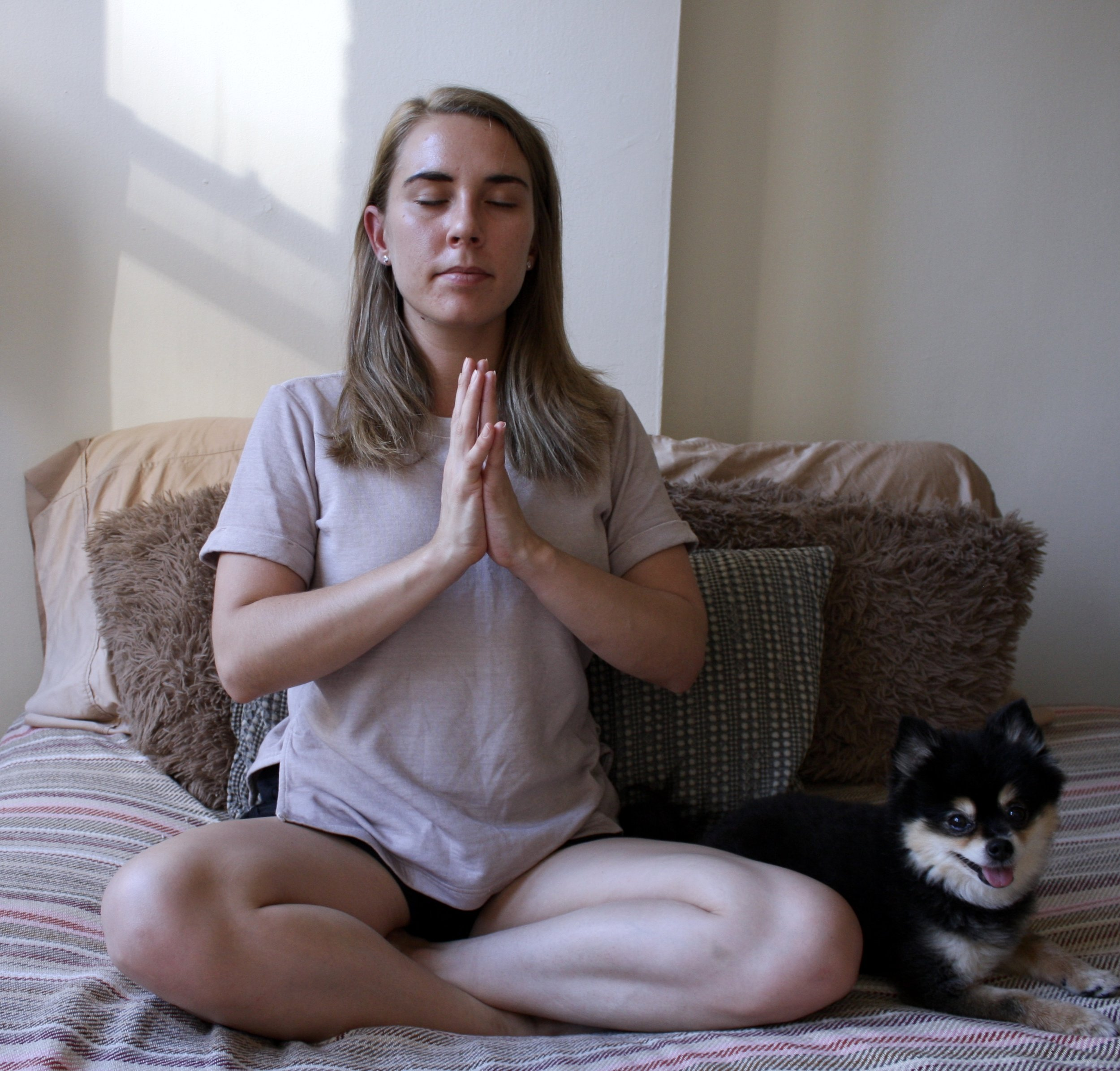 There is nothing better I love more than starting my day with some puppy love and yoga!