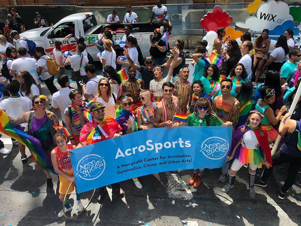 AcroSports at the 2018 San Francisco Pride Parade!