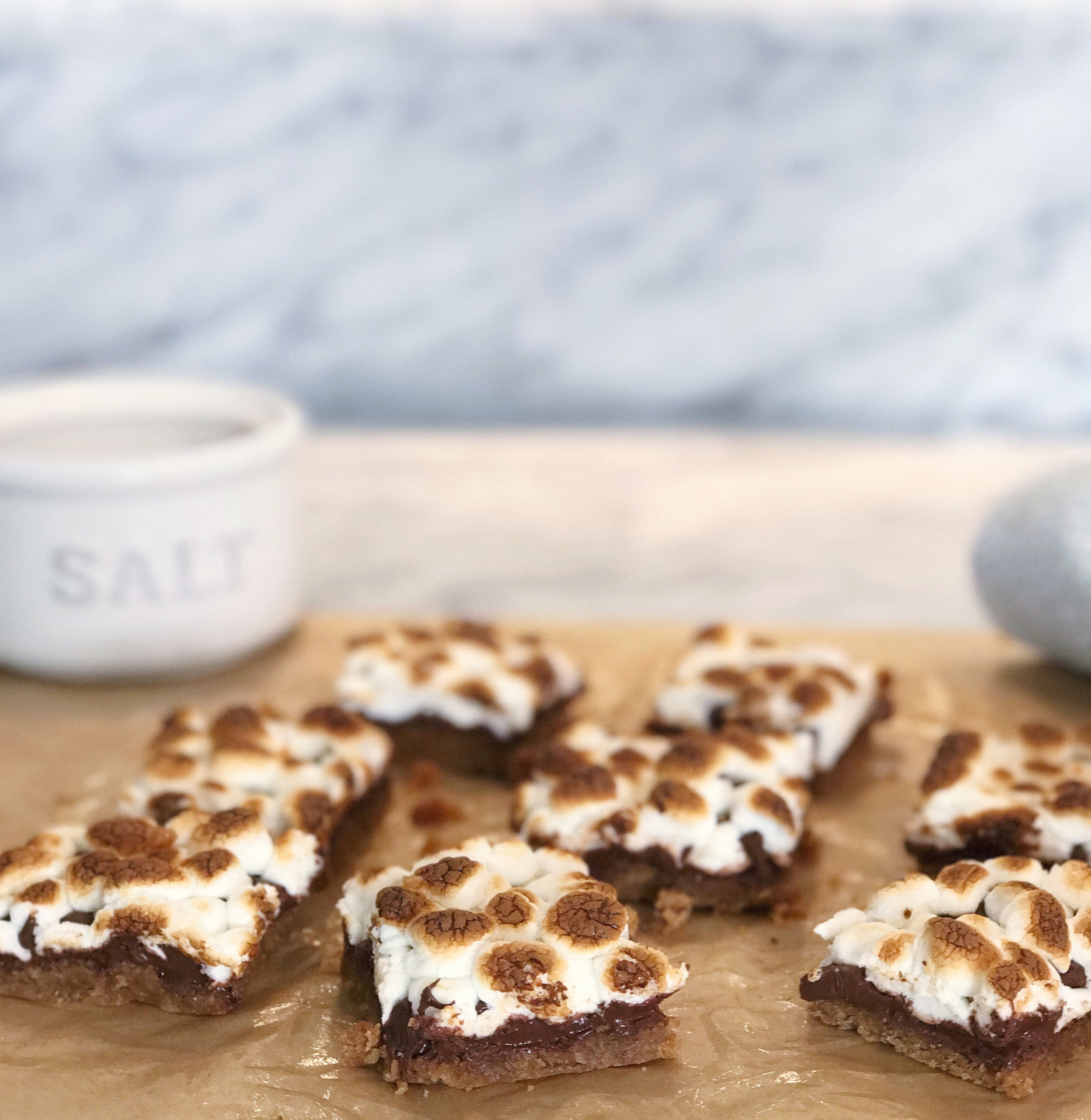 SALTED S'MORES BARS - HEAVEN IN A PAN. (NOT EVEN BEING DRAMATIC)