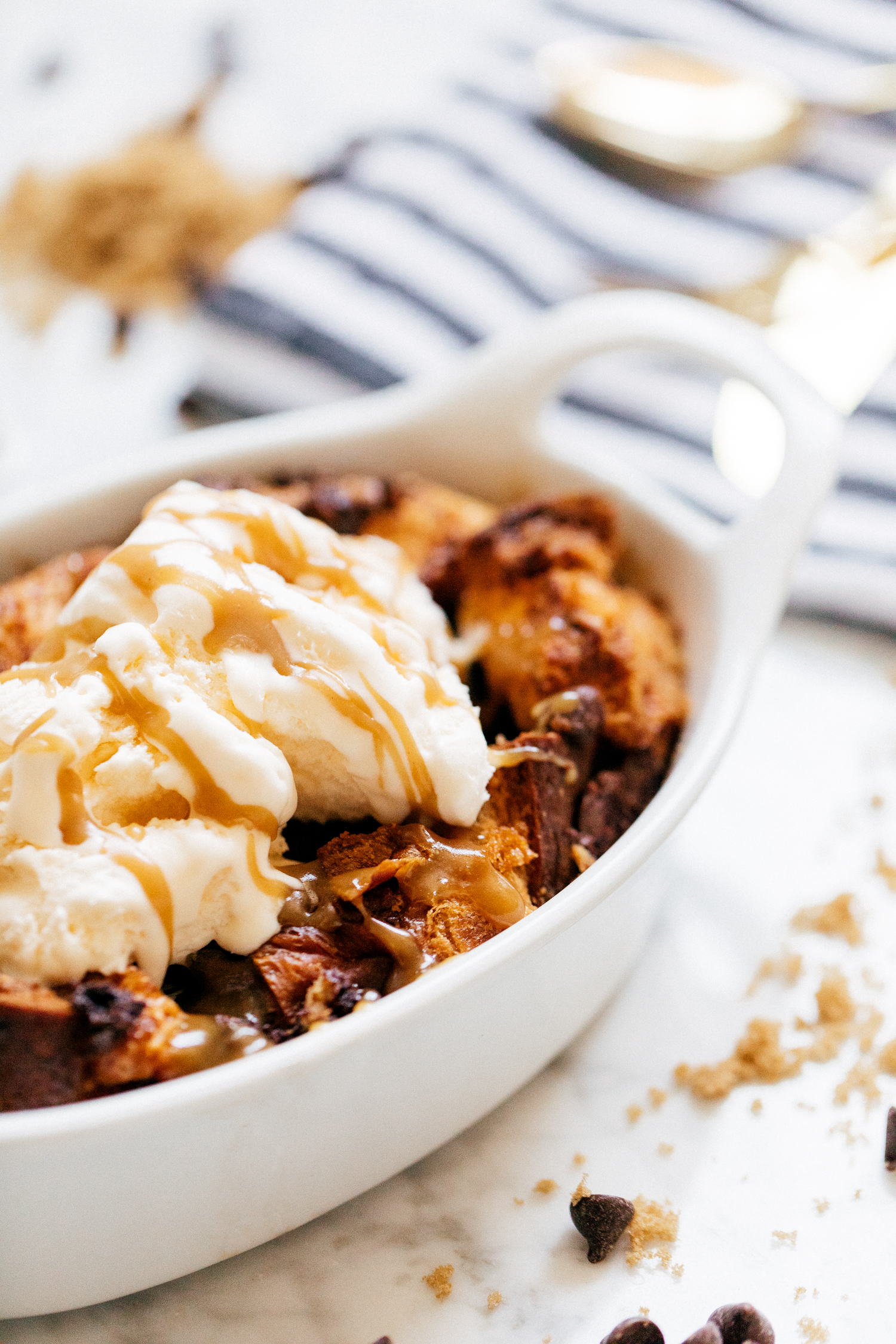That Cozy Life Chocolate Chip Bread Pudding