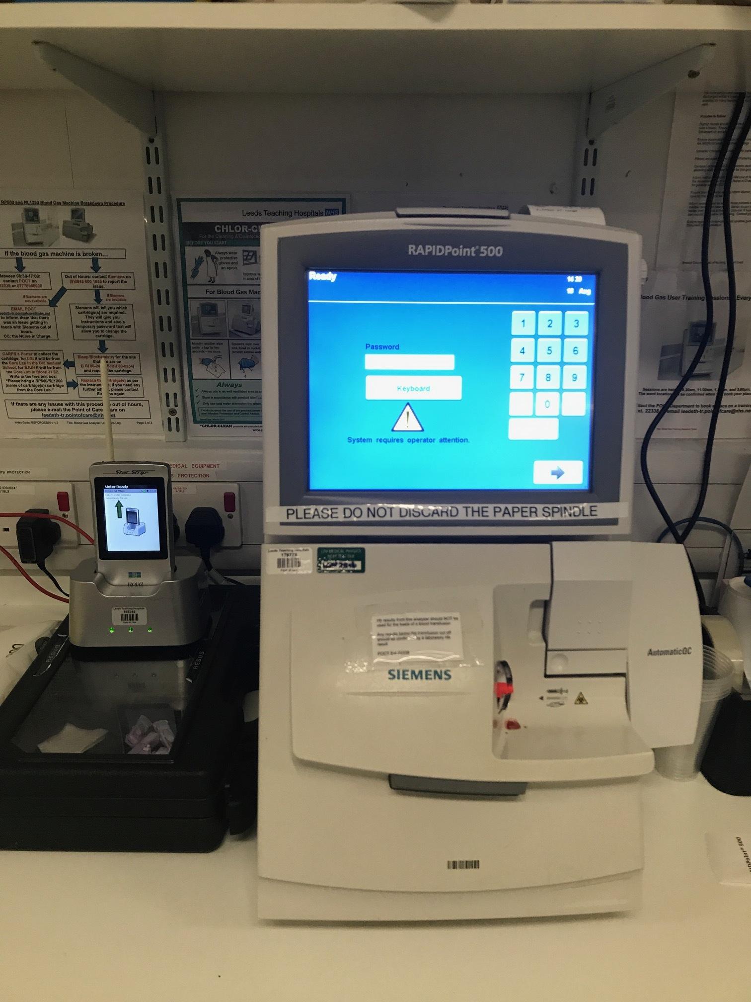 Blood gas tests