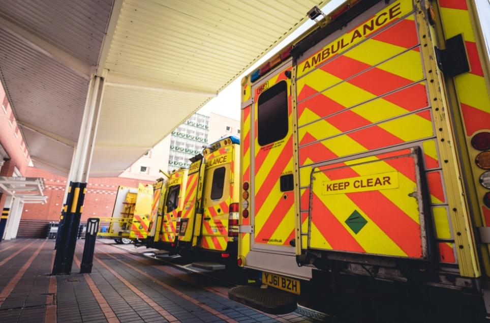 Ambulances outside LGI A&E