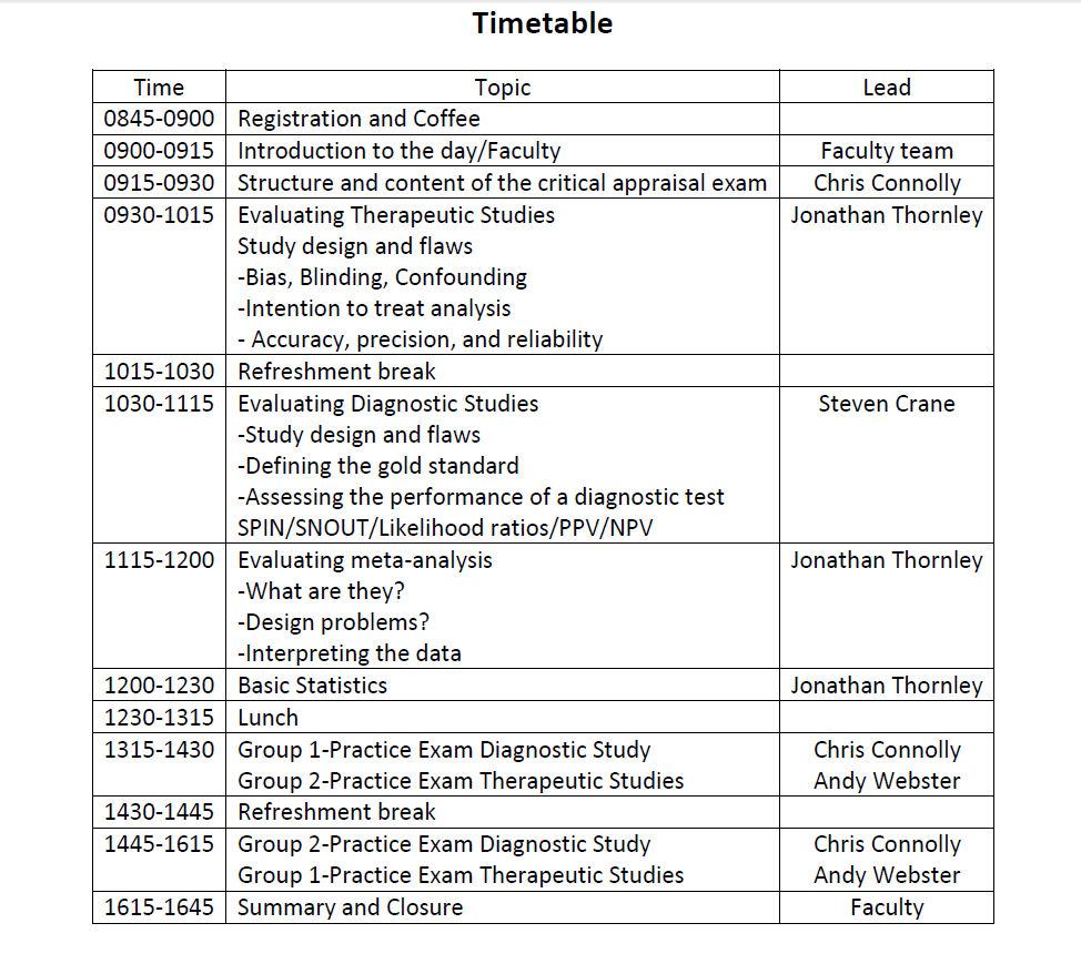 critical appraisal course timetable.png