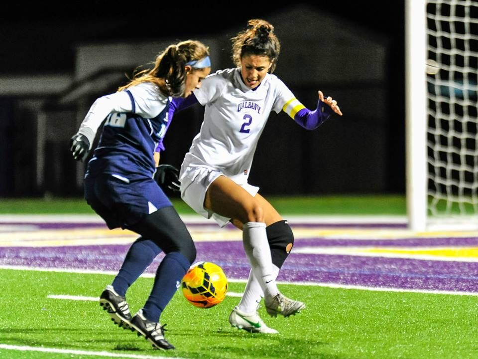 Celia, while playing for UAlbany