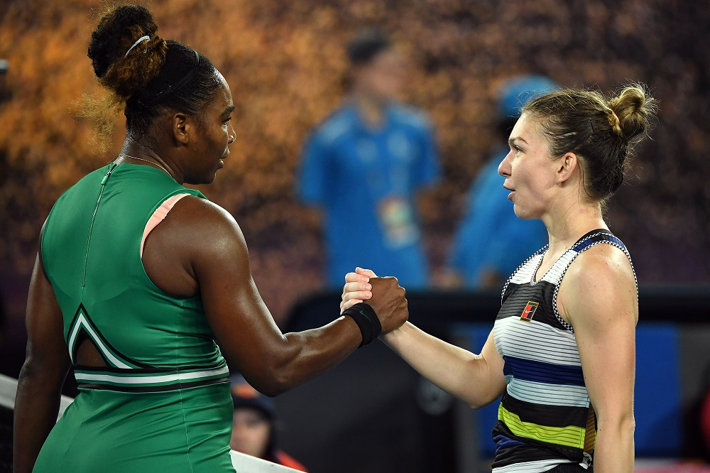 Serena Williams and Simona Halep at the 2019 Australian Open. Image Credit- Tennis.com