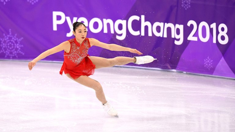 Image Credit- Getty Images  American figure skater Mirai Nagasu, who spoke about how she performs throughout her period and how exercise helps her PMS following the Pyeong Chang 2018 Olympics.