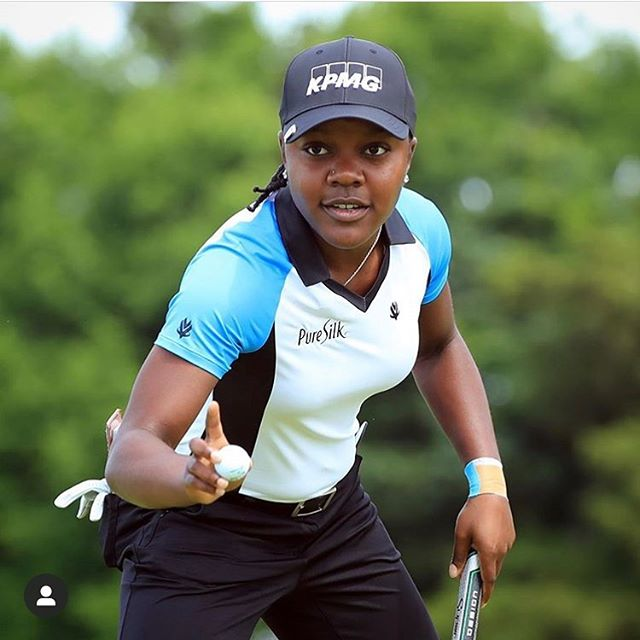 @mostacksbirdies is in contention to become the first African American woman to win on LPGA today at the @shopritelpga 🙌🏽 . . #womeninsport #lpga #golf #blackgirlmagic #girlswhogolf