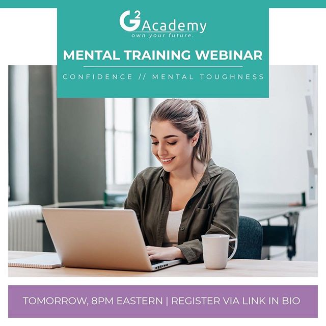 A great opportunity for young junior golfers looking to sharpen their mental handicaps on the course! . . #Repost @theg2academy ・・・ MENTAL TRAINING WEBINAR | TOMORROW | 8PM ET  Learn more about how you can own your game by learning to play with confidence and mental toughness from Dr. Lauren Tashman @lstashman, G2 Academy Direct of Mental Training.  Register Now - even if you can't make the live webinar, you'll be able to watch the replay later // link in bio.  #mentalgame #mentaltoughness #sportspsych #sportspsychology #juniorgolf #golf #girlsgolf #juniorgolfer #mentaltraining #mentaltrainingforgolf #ownyourgame #ownyourfuture