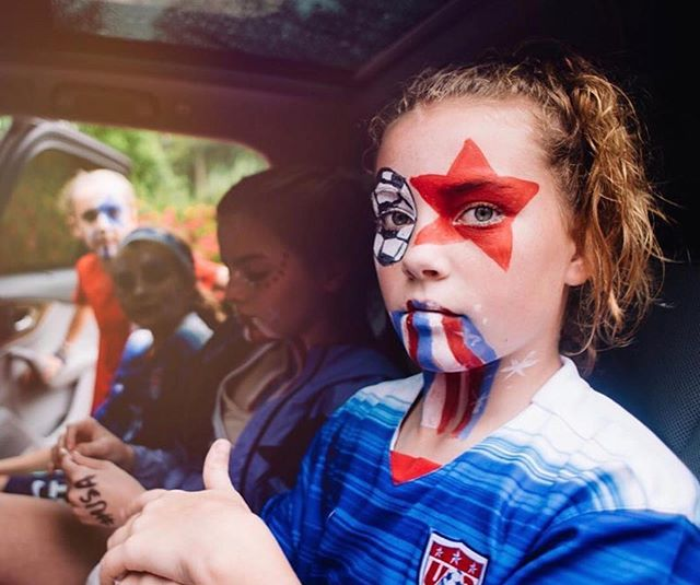 Our favorite type of makeup: game face ready to go . . #Repost @katetparker ・・・ Game face on. @fifawomensworldcup @uswnt let's do this. ⚽️❤️⚽️ . . . . #TheFutureofSportsisGirls . . . #womeninsport #athlete #equality #motivation #empower #strong #history #girlssports #soccer #futbol #worldcup #womensworldcup #playlikeagirl #strongisthenewpretty #empowergirls #content #storytelling #pr #marketing