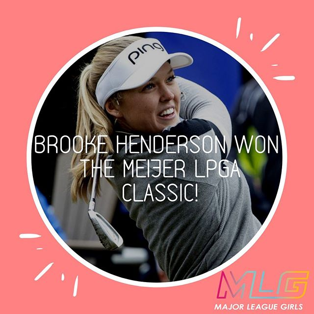 21 year-old, @brookehendersongolf, won her 9th tour victory on the @lpga_tour, making her the most winningest golfer from Canada, besting her male peers from the Maple Leaf country. #TheFutureofSportsisGirls . . . . #womeninsport #lpga #golf #girlswhogolf #breakingrecords #Canada
