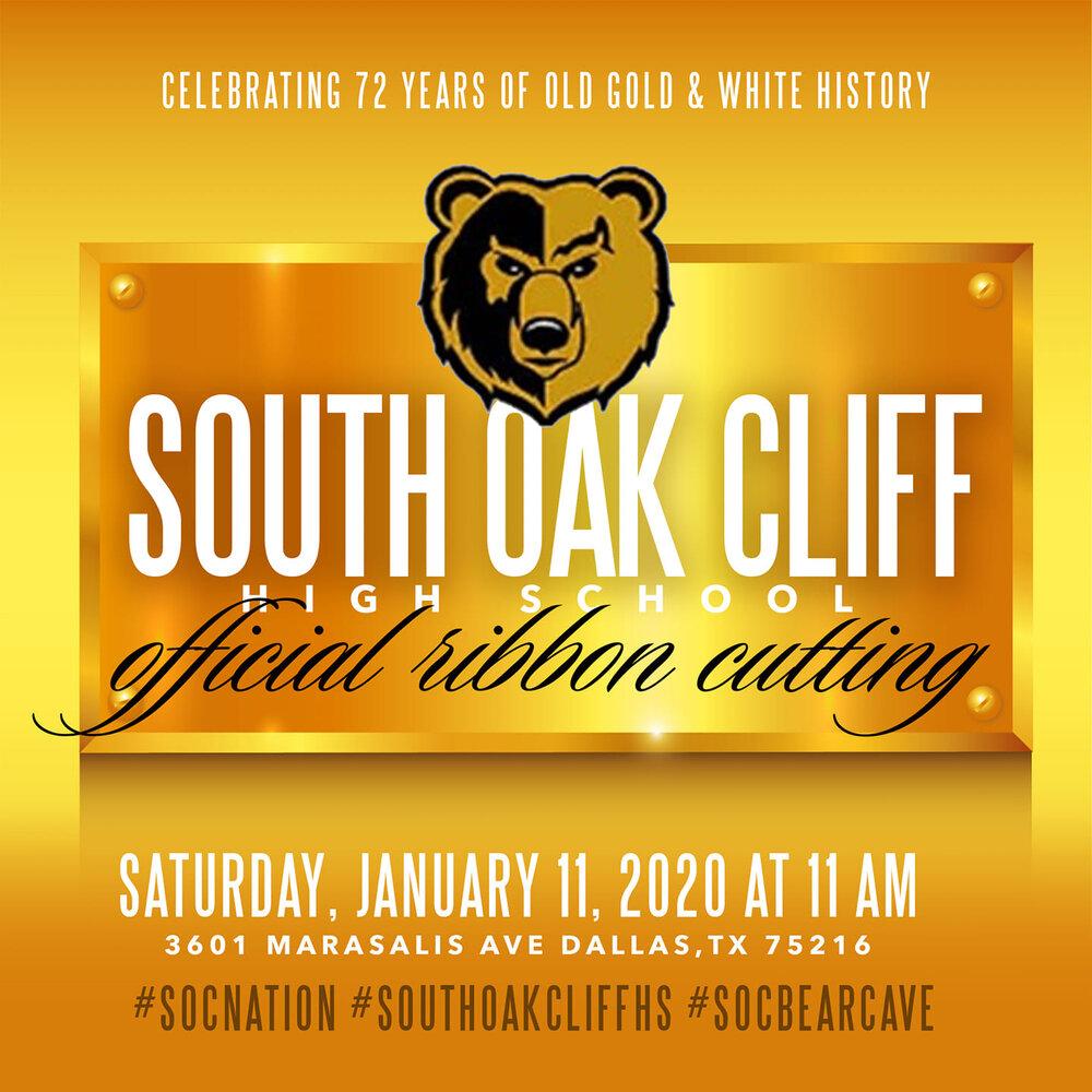 South Oak Cliff Celebration March Ribbon Cutting Dallas Kids First