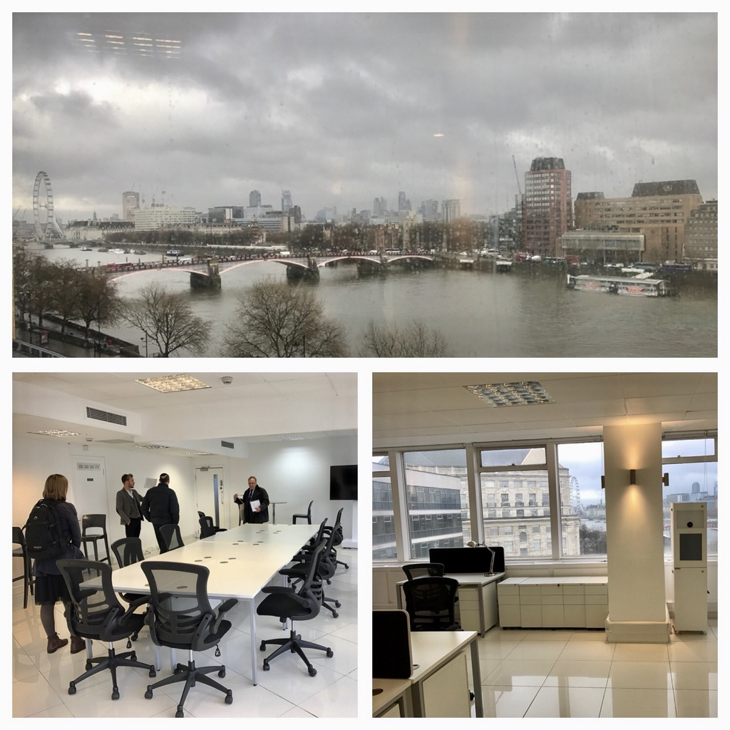 3rd Offices - As we were going through the acquisition we moved into the parent company offices on the river thames in central London. Quite a difference to what we had been used to previously.