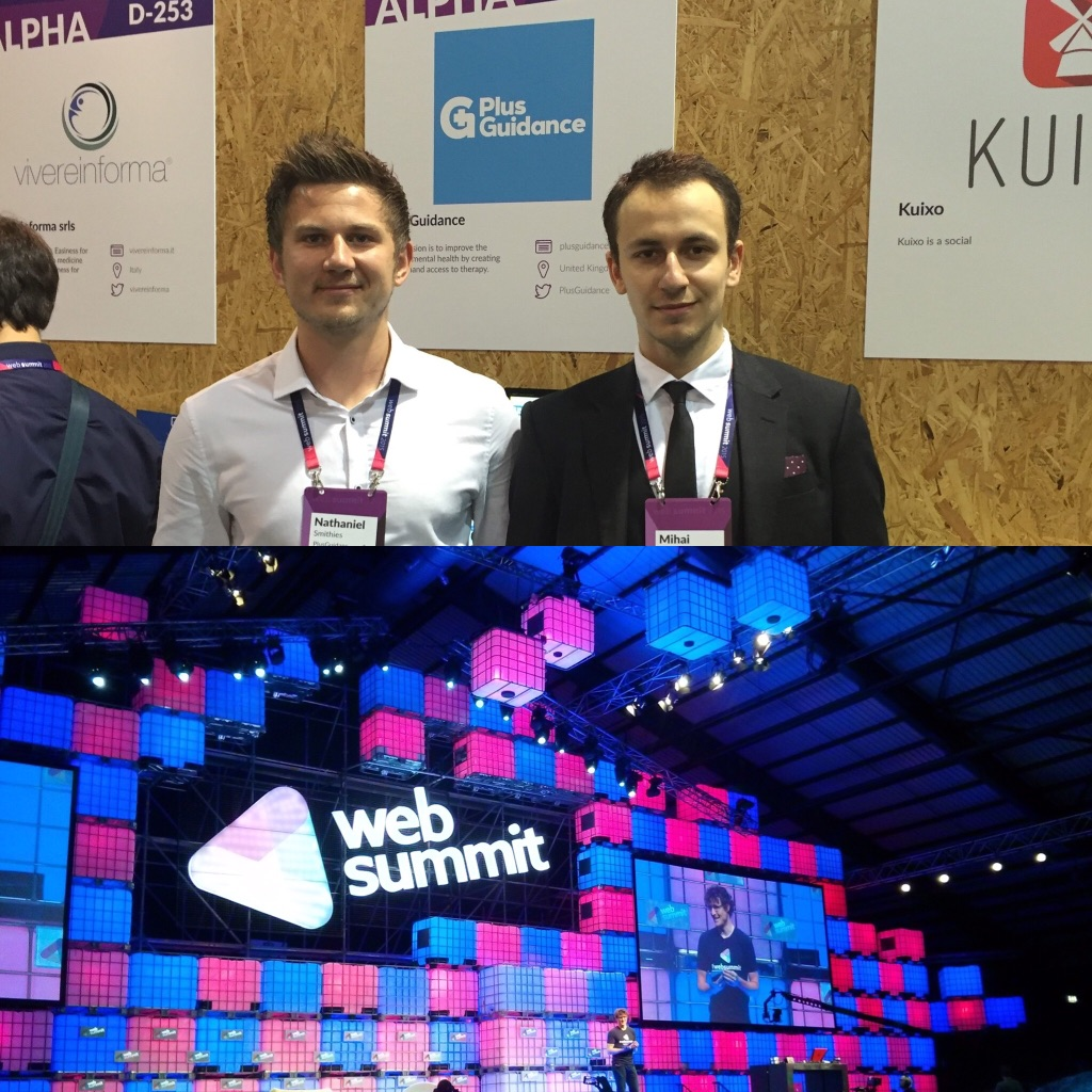 Web Summit - PlusGuidance was invited as an 'alpha startup' to exhibit at Web Summit, the biggest startup conference in the world.