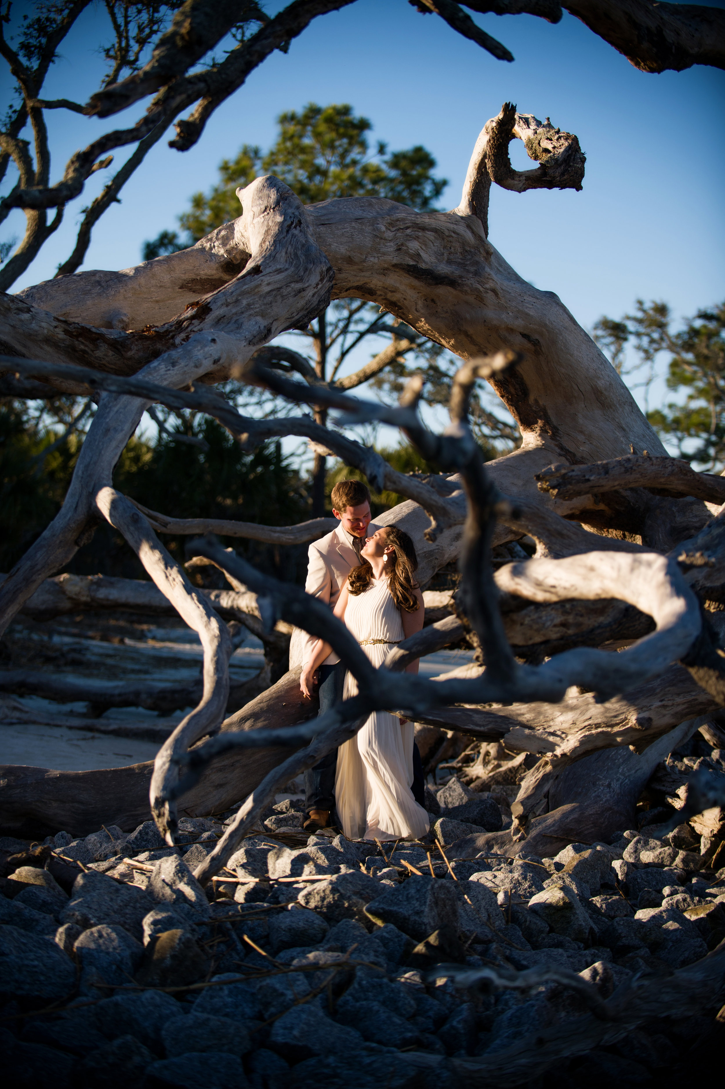 Outdoor St. Augustine beach engagement photography by the sea