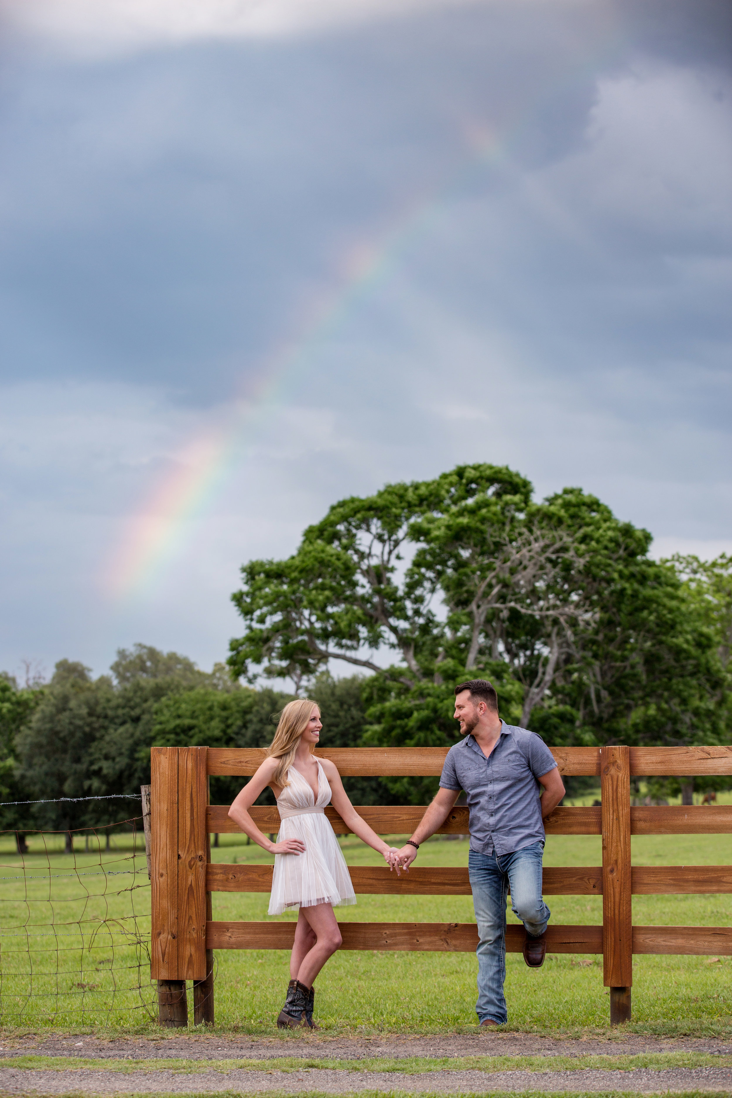Gainesville Outdoor Engagement Photography Field Farm Photographer