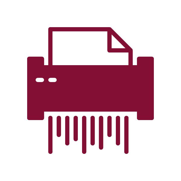Paper Shredding Icon.    hard drive destruction  technology recycling  document shredding  security  privacy  data  info  information  OKC  Oklahoma City  trust