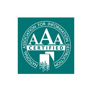 National Association for Information Destruction Logo.    hard drive destruction  technology recycling  document shredding  security  privacy  data  info  information  OKC  Oklahoma City  trust