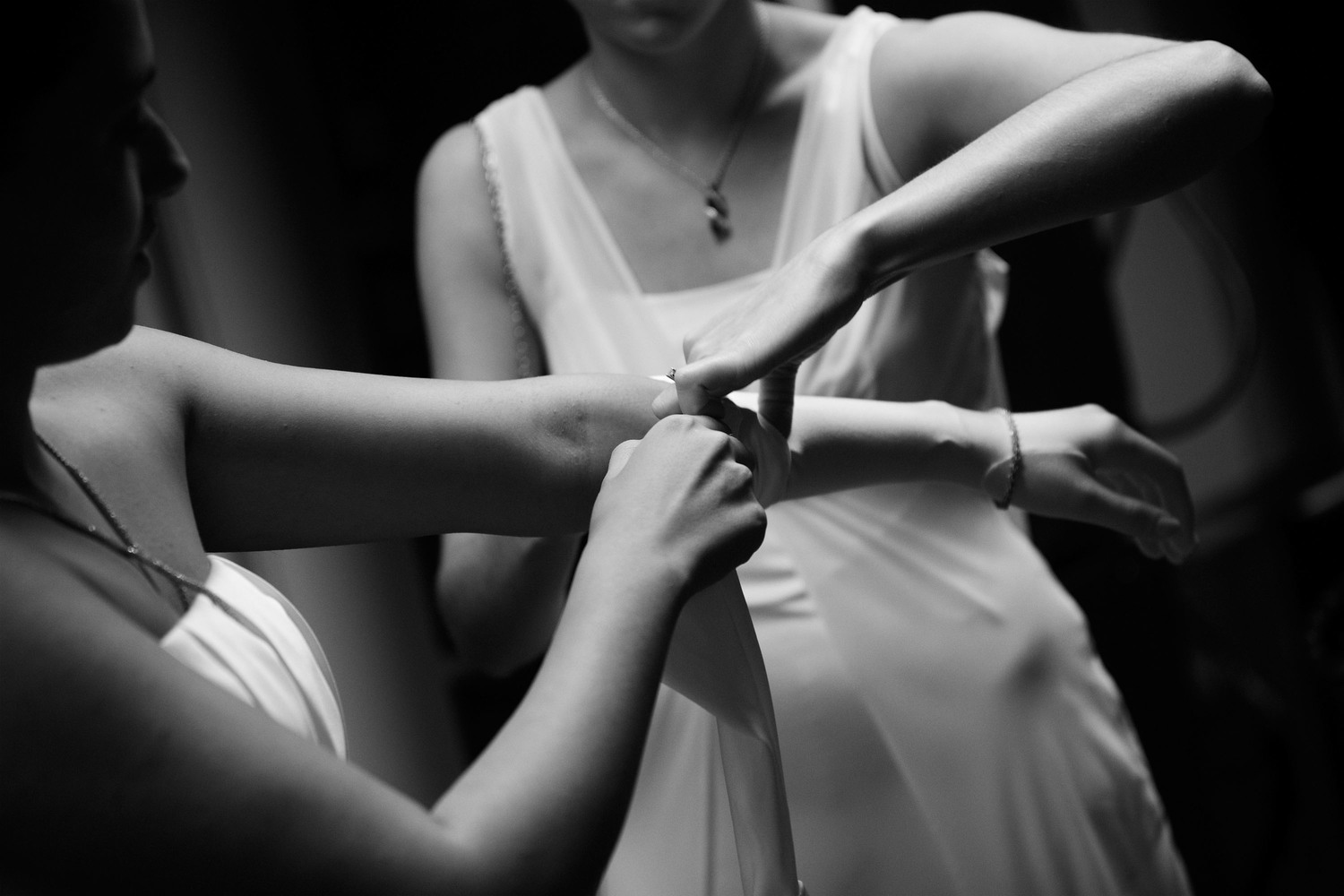 Candid black and white photography debutante ball