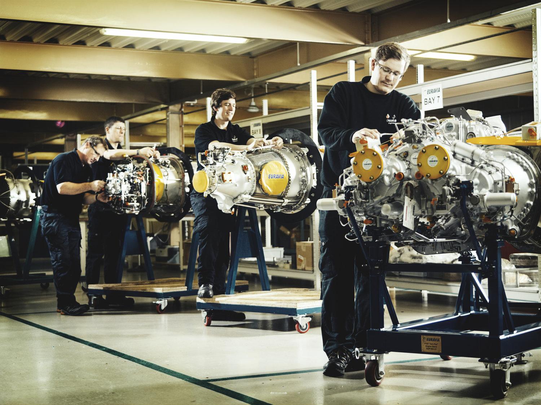Euravia Corporate Photo Shoot gas turbines
