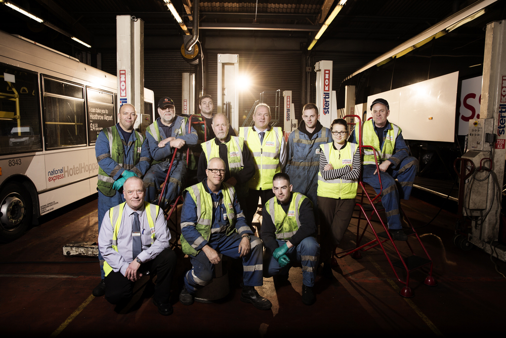 National Express Team Shot - Corporate Photography