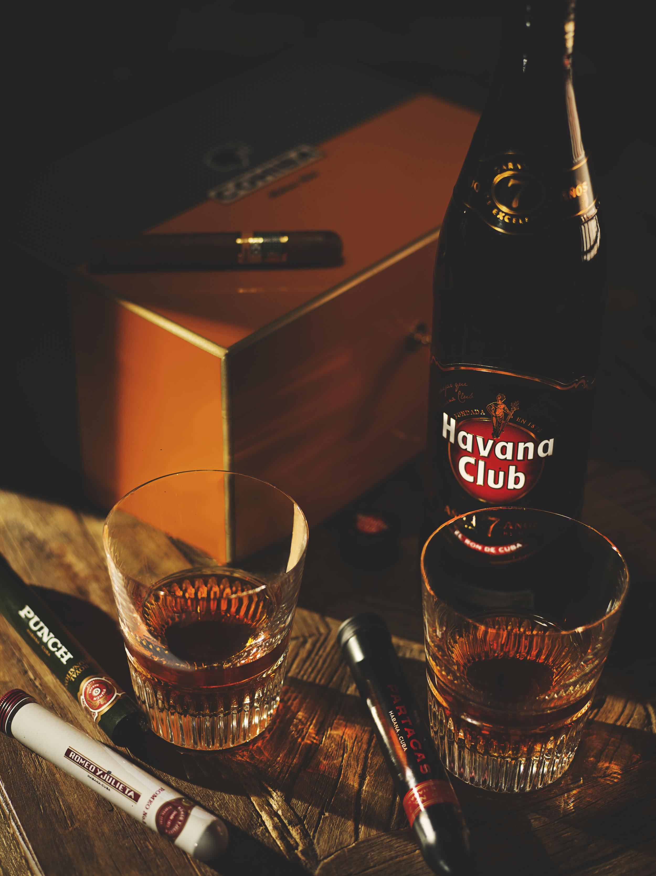 Havana Club alcoholic drinks photographer