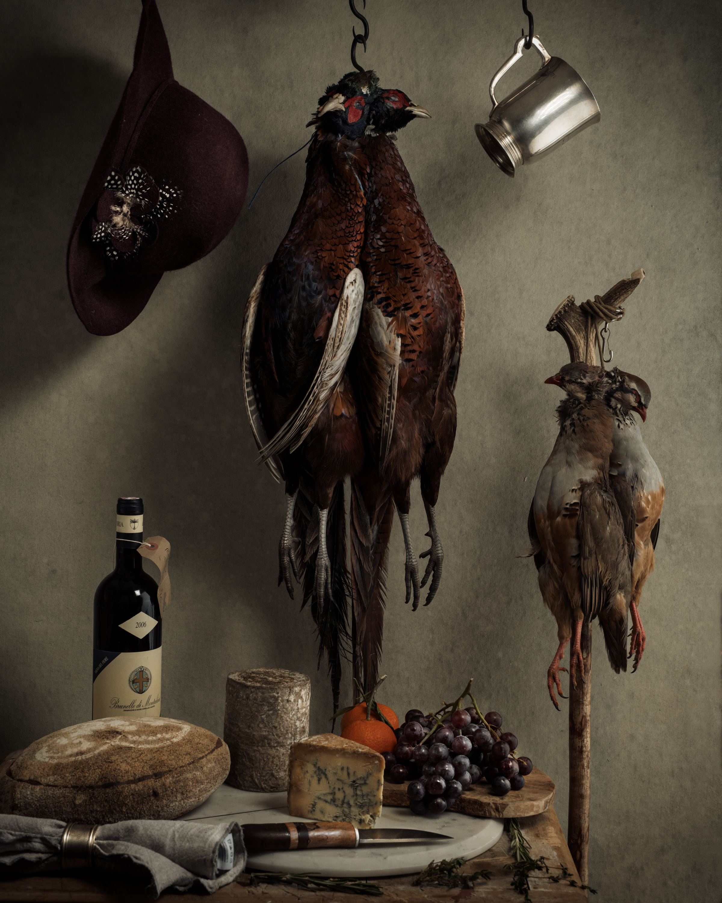 Fresh game photographed by Matthew Lloyd in the style of the Dutch Masters