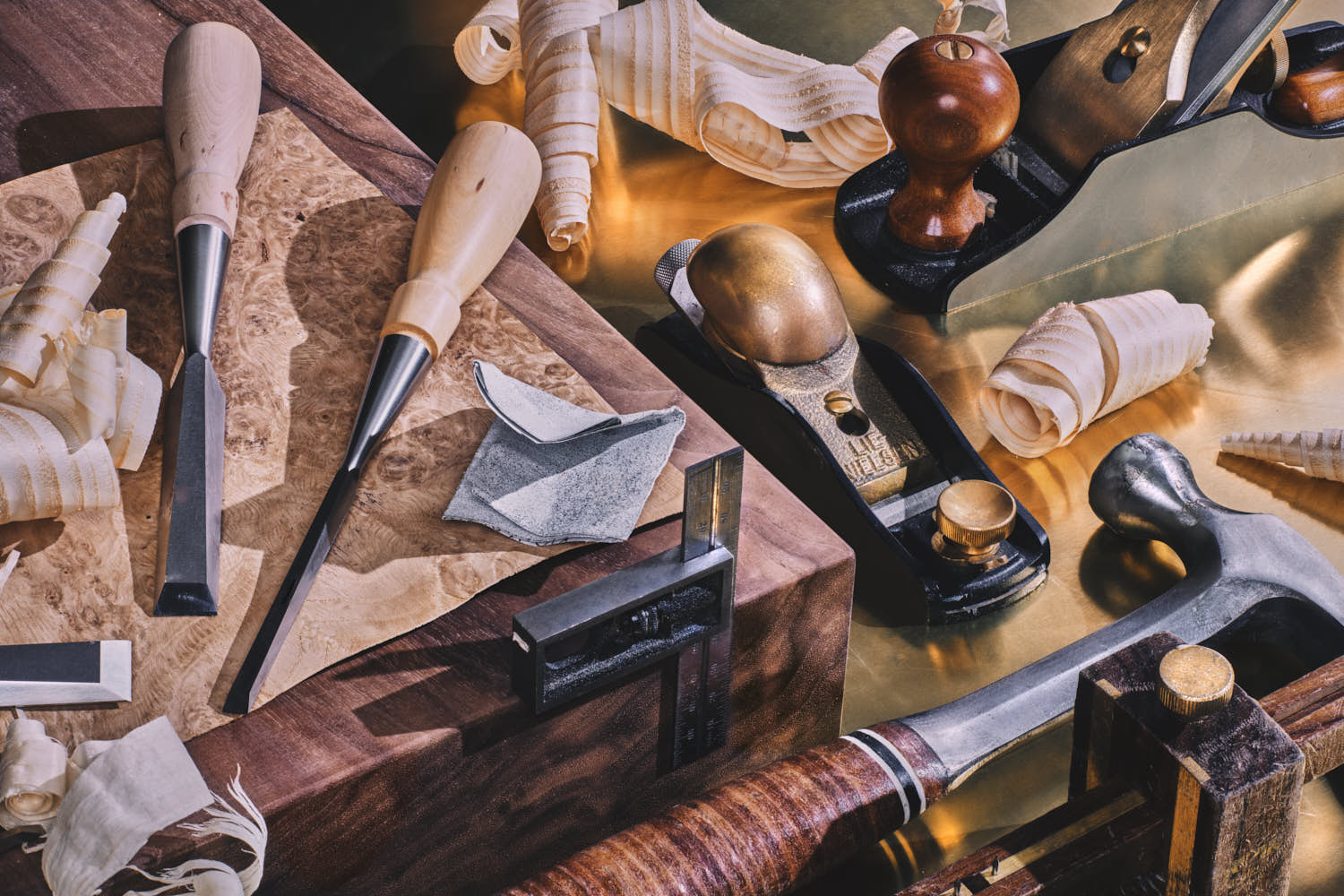 still life product photography of luxury bespoke joinery workshop tools by yorkshire photographer matthew lloyd.jpg