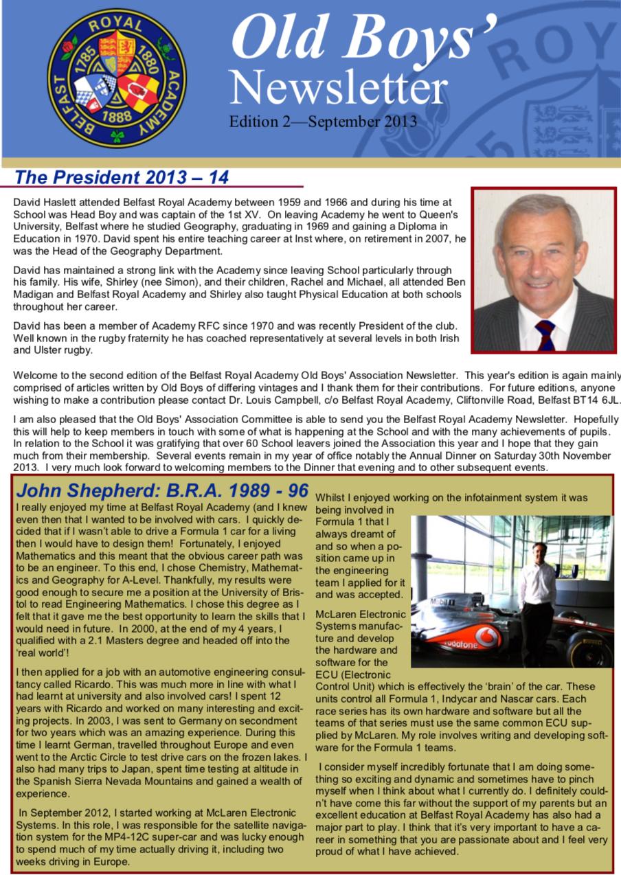 2013 Newsletter