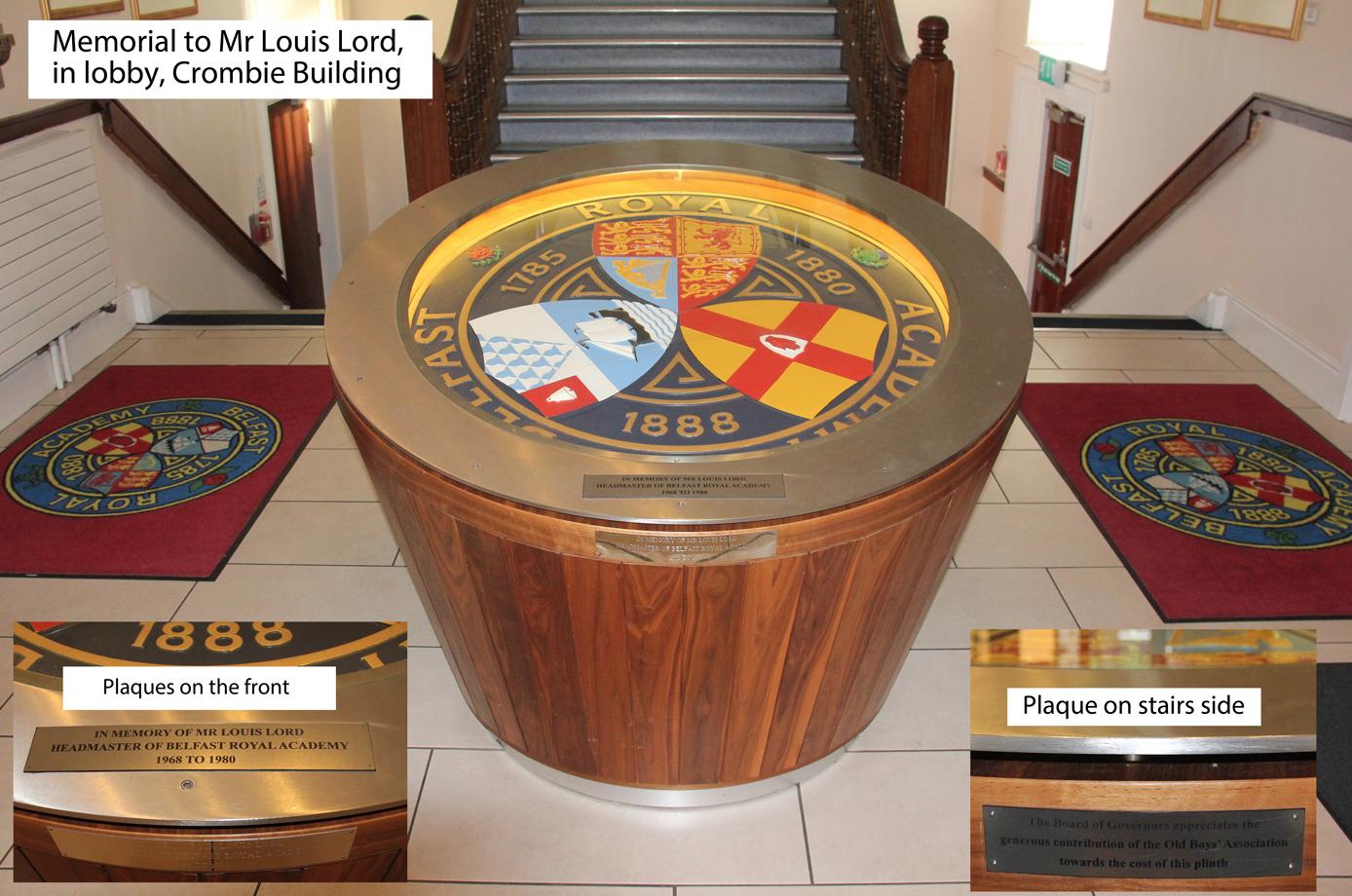 J.L. Lord Memorial.