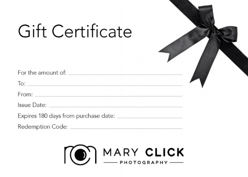 2018 Gift Certificates -