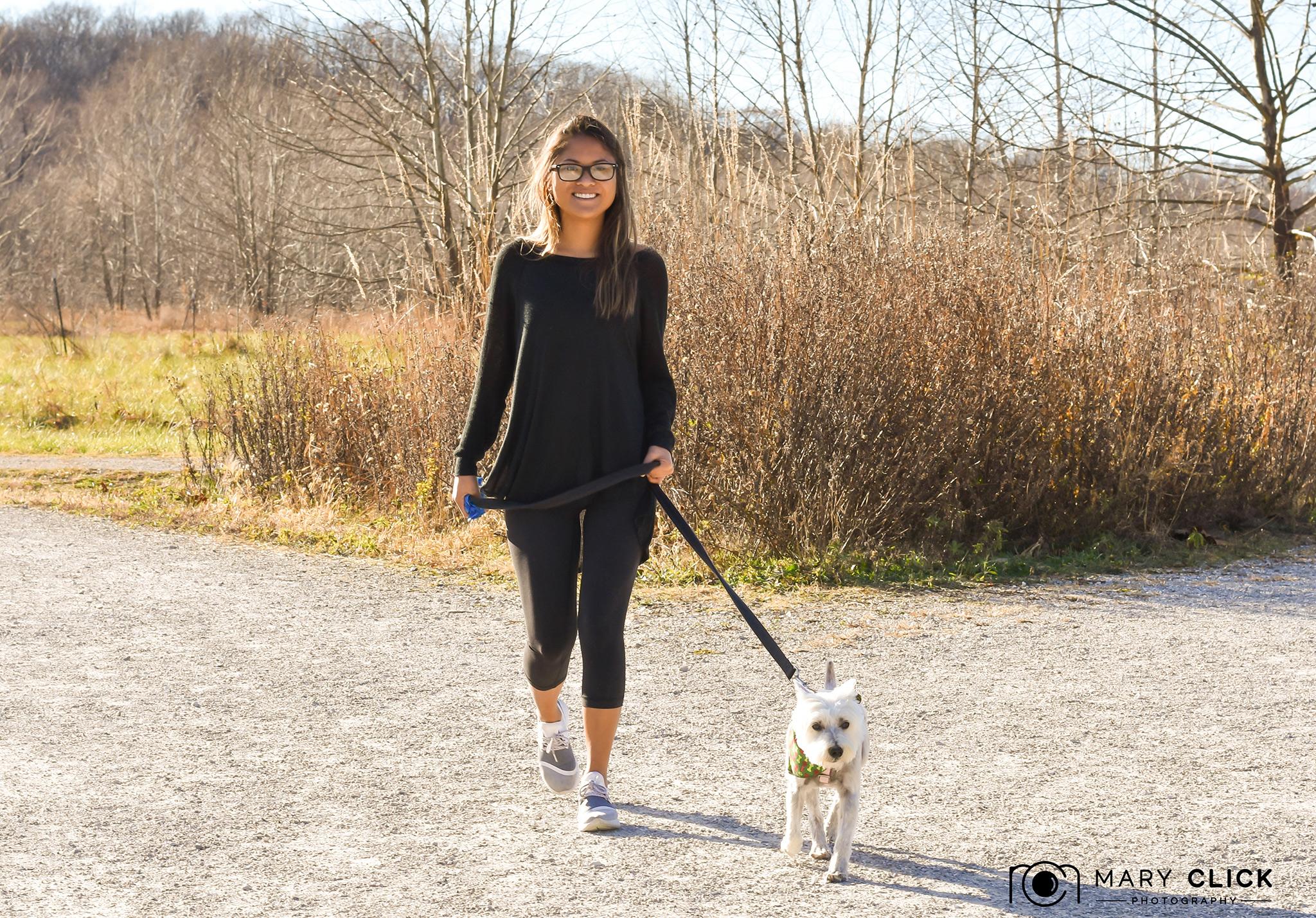 """""""Wally"""" & Julia (CMHS pet transport volunteer)"""